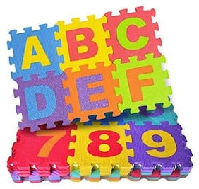 New Pinch 36 Piece small Size ABC Foam Mat - Alphabet & Number Puzzle Play & Flooring Mat for Children & Toddlers  (36 Pieces)