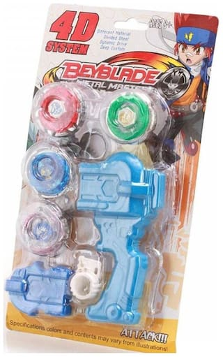 New Pinch 4 Beyblade Set With Handle Launcher