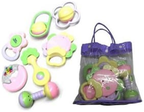 New Pinch Baby Pouch Rattle (Pack of 7 pcs )