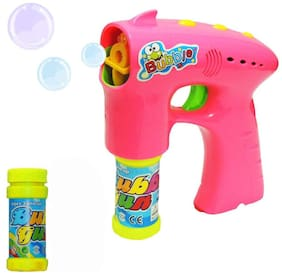New Pinch Battery Operated Bubble Shooter Gun with Light & Music for Kids
