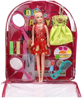 New Pinch Beautiful Bag Doll with Makeup Accessories (Multicolour)