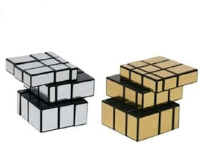 New Pinch Combo of Silver & golden Mirror Cube 3X3 Speed Cube-in Irregular Shapes Puzzle