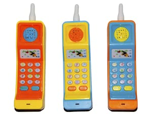 New Pinch Cordless Musical Phone Toy for Kids Musical Educational Funny Toy Phone for Kids with Colorful Light Effects (pack of 3 )