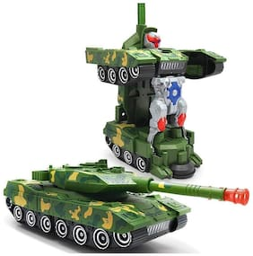 New Pinch Deformation Tank Transformer Robot Toy with Light;Music toy