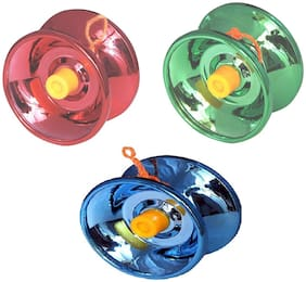 New Pinch Fine Gloss High Speed YoYo Spinner Toy Best Return Gift for Kids (Color May Vary) pack of 3