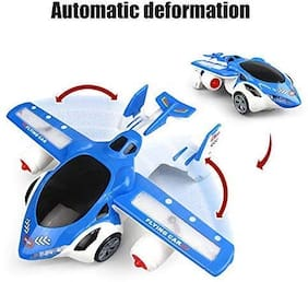 New Pinch Flying Toy Car (Running on Floor ) with 360 Degree Rotation & Automatic Wing Opening;Music and Lights;Bump and Go Action;Battery Operated Toy for Boys and Girls