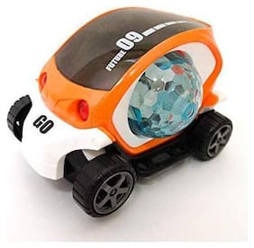 New Pinch Mini Future 3D car Bump and Go Toy with 4D Lights;Dancing Toy;Spin Light Ball Car(Assorted)
