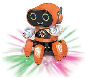 New Pinch Octopus Shape Electric Toy Robot with Light and Music for Boys & Girls