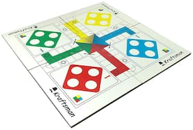 New Pinch Portable Ludo Board Travel & Pocket Game for Kids and Adults (11x11 Inches) | Travel Pouch Included for Pawns and Dice