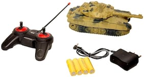 New Pinch Remote Control Rechargeable Army Tank with Sound and Lights for Kid