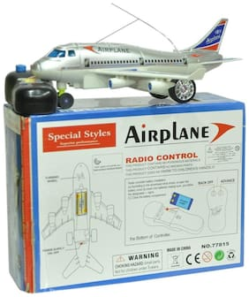New Pinch Remote control Aeroplane 2 Channel for kids multicolor (Running not flying)