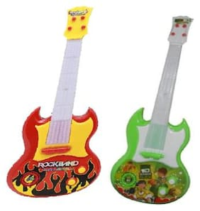 New Pinch Rock 'n' Roll Musical Guitar for Kids (Multicolor) (pack of 2)