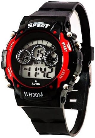 NEW RED DIGITAL WATCH WITH 7 LIGHT WITH DIFFERENT COLOR FANCY KIDS AND BOY WATCH Watc