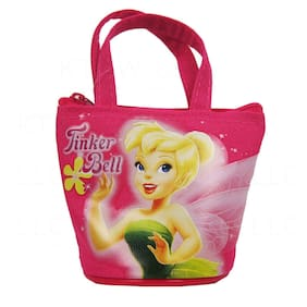 New Tinkerbell Tinker Bell Fashion Hot Pink Mini Hand Bag Coin Bag Purse For Kid