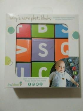 New Tiny Ideas Baby s Name Photo Blocks Letters A-Z