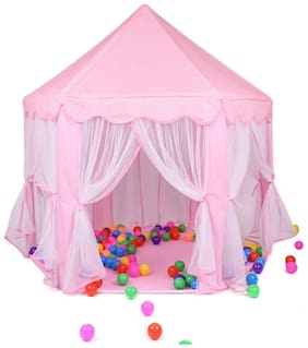 New Toy Chehar Enterprise Portable Princess Pop Up Castle Play Tent Kids Indoor Outdoor Playhouse Toys Home/Beach/Garden/Day Care/Camping Outdoor Games