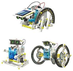 New Toy Chehar Enterprise latest 14 in 1 Educational Solar Robot Kit toys for kids (Multicolour)
