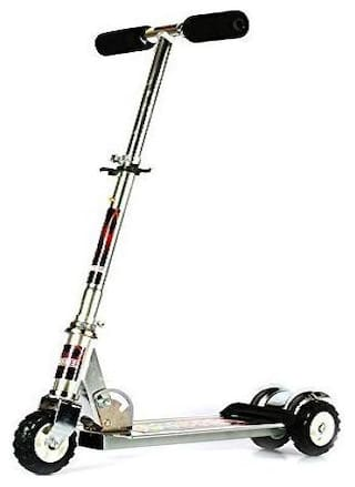 New Toy Chehar enterprise Skate Scooter for Kids with 3 Wheels and 3 Position Adjustable Height heavy metallic (Multicolor)