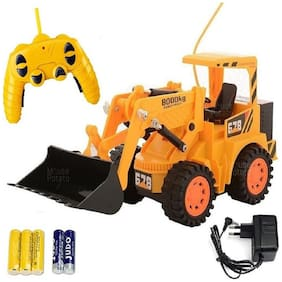 New Toy chehar Enterprise Yellow Plastic Remote Control Jcb Construction(color may be vary)