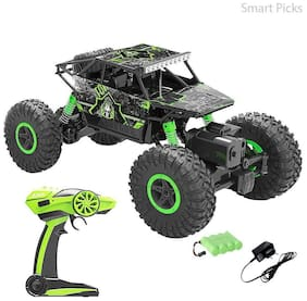 NEw Toy Chehar Enterprise 2.44Ghz 1/18 RC Rock Crawler Car 4 WD Shaft Drive High Speed Remote Control (Multicolor)