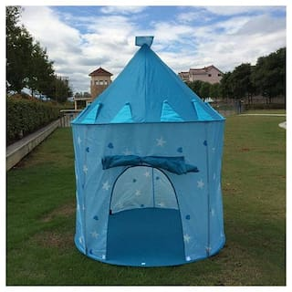 New Toy Chehar Enterprise Kids Play Tent Indoor Outdoor - for Boys Girls Baby Toddler Playhouse Prince House Castle Blue Foldable Tents with Carry Case