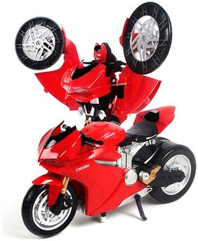 New Toy Chehar Enterprise MZ Transformer (Bumblebee Optimus) Remote Control Robot to Motocycle Ducati with USB Charger