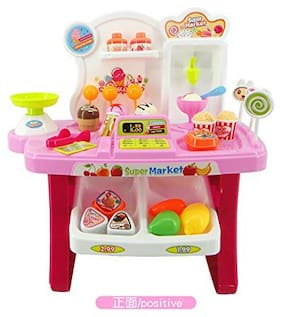 New Toy chehar Enterprise Supermarket Shop Pretend Play Toys Set with Sound Effects, Multi-Color