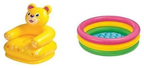 New TOy Chehar Enterprise latest Inflatable Plastic Combo Pack Of Teddy Chair & Tub