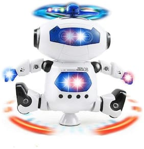 Dancing with light and music  White Robot