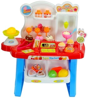 New Toy chehar Enterprise Supermarket Shop Pretend Play Toys Set with Sound Effects, Multi-Color