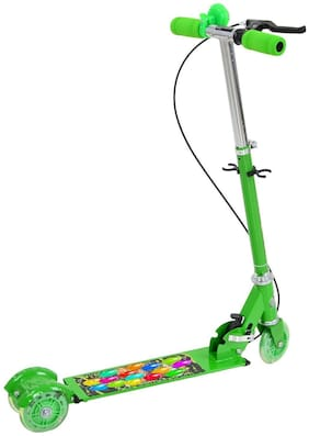 New Toy Chehar Enterprise 3 Wheeler Scooter Ride Ons With Height Adjustable & Foldable For Boys & Girls Cycle/Runner/Rider (Multicolor)