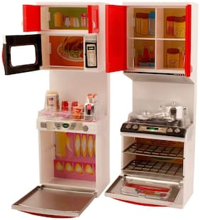 New Toy Chehar  Enterprise ICW ICW0057 Girl's Plastic Dora Play With Me Battery Operated Kitchen Play Set(multicolor)