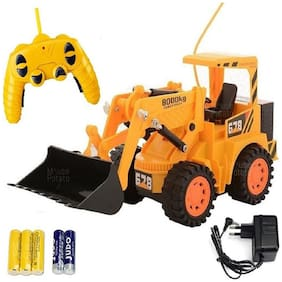 New Toy Chehar Enterprise Remote Control Cheetah JCB Construction Truck, Yellow(color may be vary)