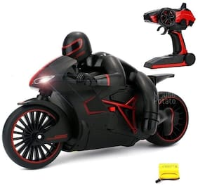 New Toy chehar Enterprise High-Speed Lightning R/C Remote Control Motorcycle 2.4 GHz Rechargeable (red)(color may be vary)