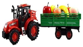 New TOy Chehar Enterprise Tractor Trolley Toy for Kids, Tractor Toy, Truck Toy for Kids with Various Type of Real Looking Fruits