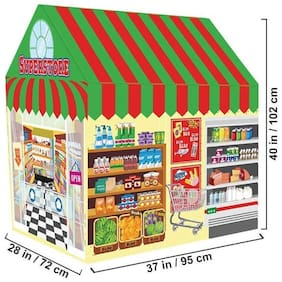 New Toy Chehar Enterprise Supermarket House,Indoor/Outdoor Water Repellent Folds Kids Tents,Flame-resistant Playhouse