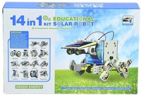 New Toy Chehar Enterprise latest 14 in 1 Educational Solar Robot Kit toys for kids (Multicolour)