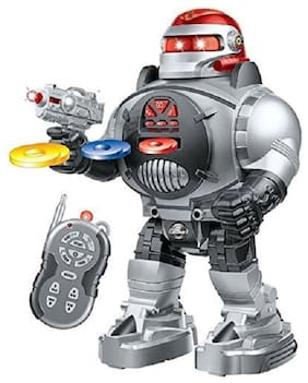 New Toy chehar Enterprise Remote Control Robot - Fires Discs, Dances, Talks - Super Fun RC Robot(color may be vary)