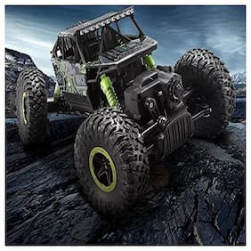 New Toy chehar Enterprise 1/18 RC Rock Crawler Vehicle Buggy Car 4 WD Shaft Drive High Speed Remote Control Monster Off Road Truck (Green) Colour May Vary