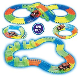 New Toy Chehar Enterprise Magic Track Rails with Eco-Friendly ABS Plastic Safe and Non-Toxic, not Harmful to Children- As Seen on TV (128pcs)(Multicolor)