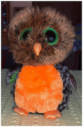 "NEW TY BEANIE BOO""S BOOS MIDNIGHT THE HALLOWEEN OWL 9"" With Tag Protector!! NWMT"