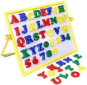 NHR 2In1 Alphabets and Numbers with Magnetic and Writting Board Learning Toy for Preschool Kids (3+ Years)