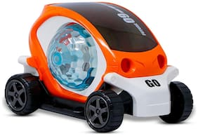 NHR 360 Degree Rotating Stunt Car Bump And Go Toy With 4D Lights;Dancing Toy;Battery Operated Toy