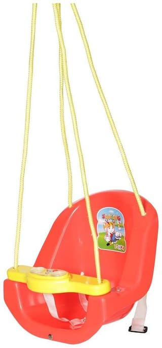 NHR Baby Swing with light and music. Red