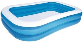 NHR Bestway Rectangular Inflatable Family Pool 2.62m x 1.75m x 51cm (Blue)