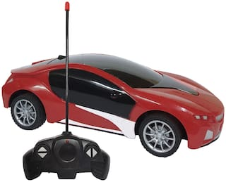 NHR Chargeable 3D Remote Control Lighting Famous Car for 3+ Years Kids (Red)
