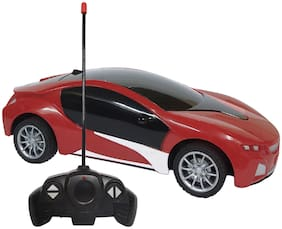 NHR Chargeable 3D Remote Control Lighting Famous Car for Kids (Red)