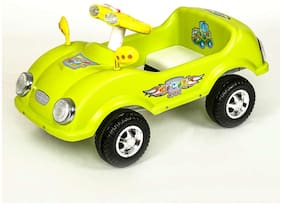 NHR Civic Kids Ride on Cum Paddle Car with Lights and Horn (Green)