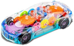 NHR Concept Musical and 3D Lights Kids Transparent Car;Toy for Kids