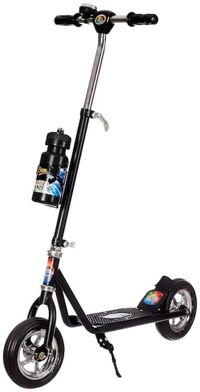 NHR DASH 2 Wheel Heavy Duty Scooter for Boys | Kids;Skate Scooter for Kids with bottel Stand;3 Level Adjustable Height and Suspension Rear Brake;Upto 10 -12 Years;Capacity 45kg (Black)